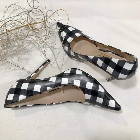 Zara Shoes - Zara Basic Checkered Stiletto Shoes